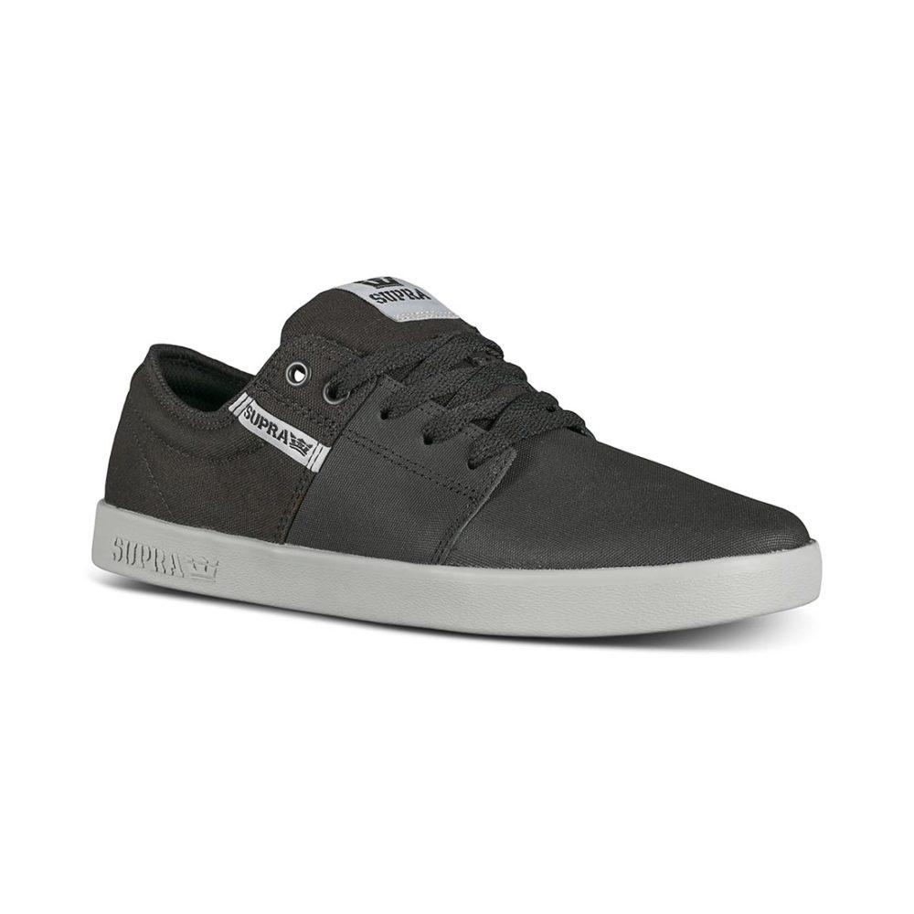 Supra Stacks II Skate Shoes - Black Tuf / Lt Grey