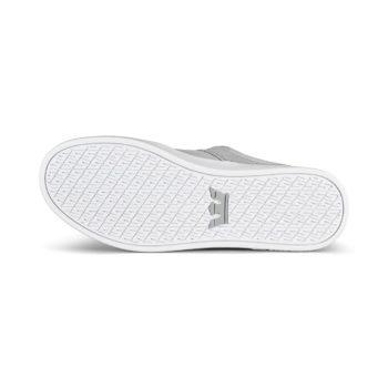 Supra Stacks II Skate Shoes - Lt Grey Tuf / White