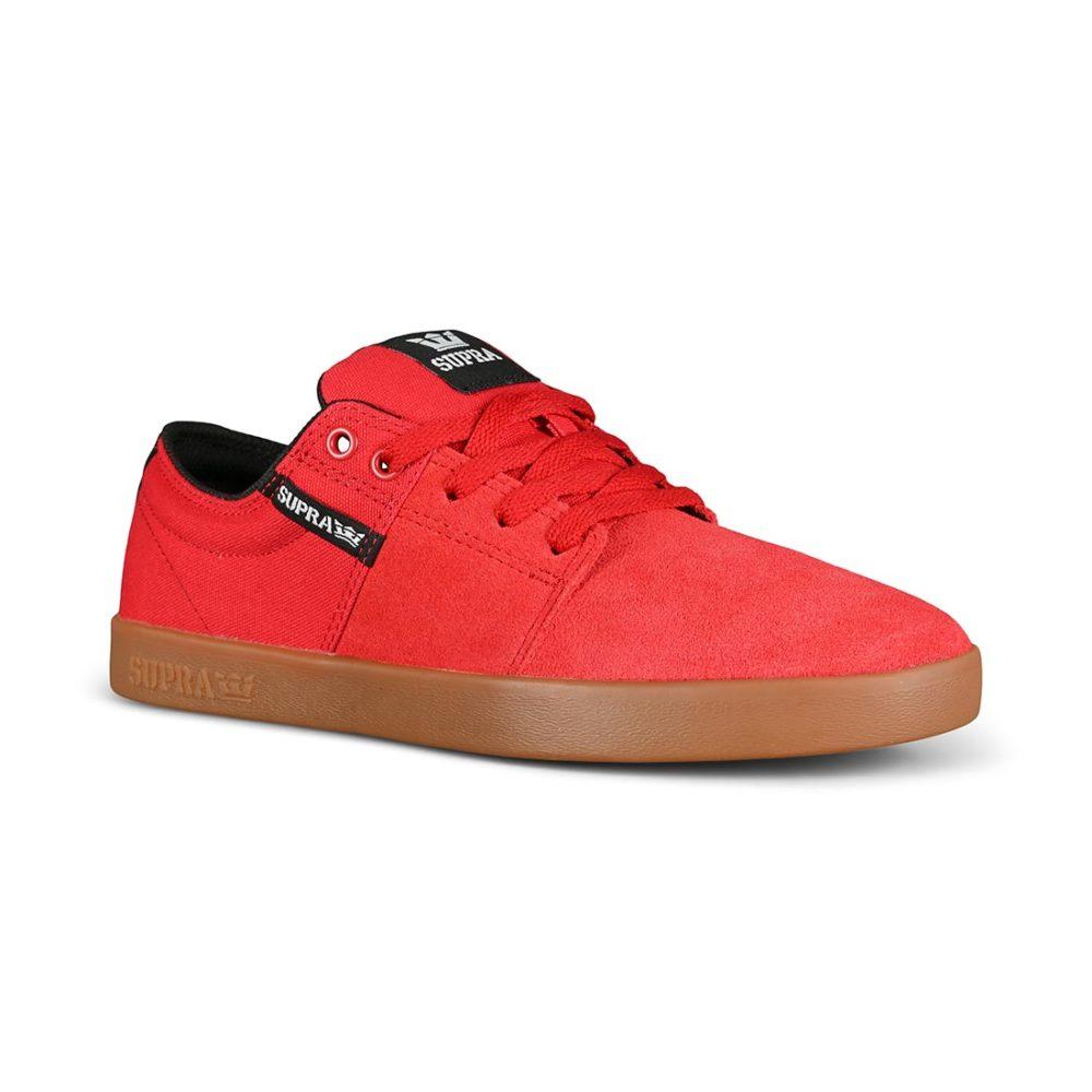 Supra Stacks II Skate Shoes - Red / Gum