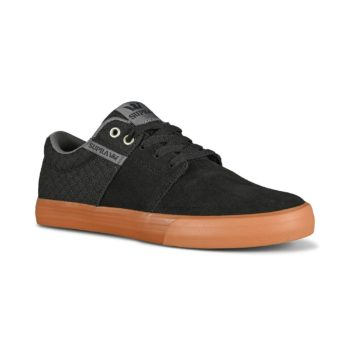 Supra Stacks Vulc II Skate Shoes - Black / Grey / Gum