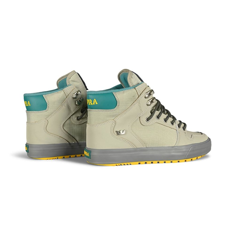 Supra Vaider CW High-Top Shoes - Stone / Dk Grey