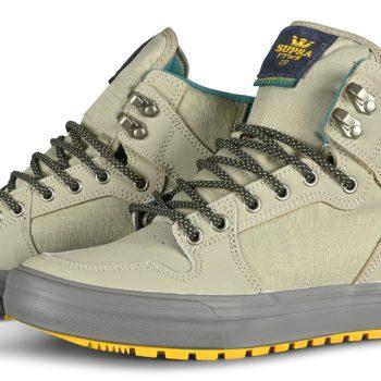 Supra Vaider CW High-Top Shoes - Stone / Dk Grey