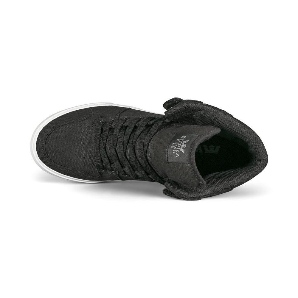 Supra Vaider High-Top Shoes - Black / White / Gum
