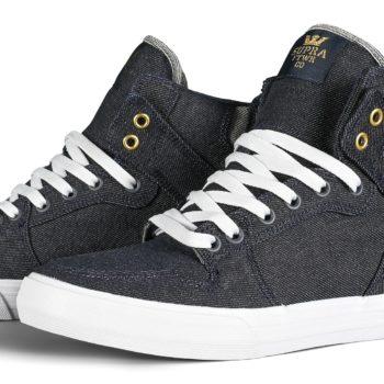 Supra Vaider High-Top Shoes - Denim / White
