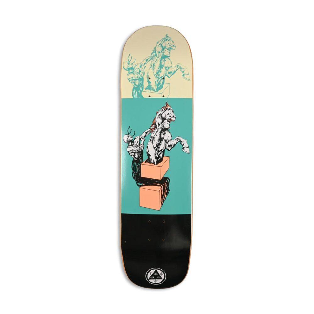 "Welcome Hierophant on Big Bunyip 8.5"" Skateboard Deck - Teal / Black"