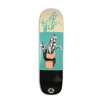 "Welcome Hierophant on Big Bunyip 8.5"" Skateboard Deck - Teal / Black"