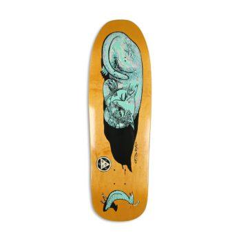 "Welcome Miller Sleeping Cat on Gaia 9.6"" Skateboard Deck"