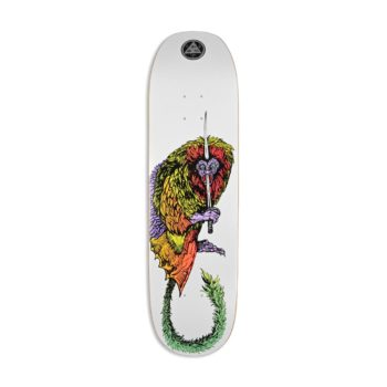 "Welcome Tamarin on Moontrimmer 2.0 8.5"" Skateboard Deck - White"