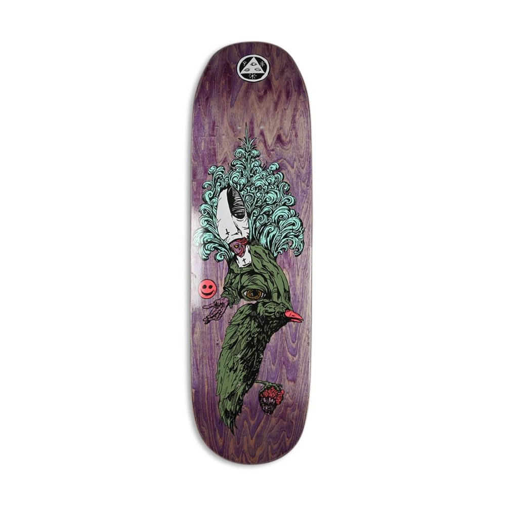 """Welcome Tonight I'm Yours on Baculus 9"""" Skateboard Deck - Purple Stain"""