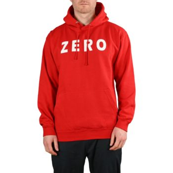 Zero Army Pullover Hoodie - Red / White