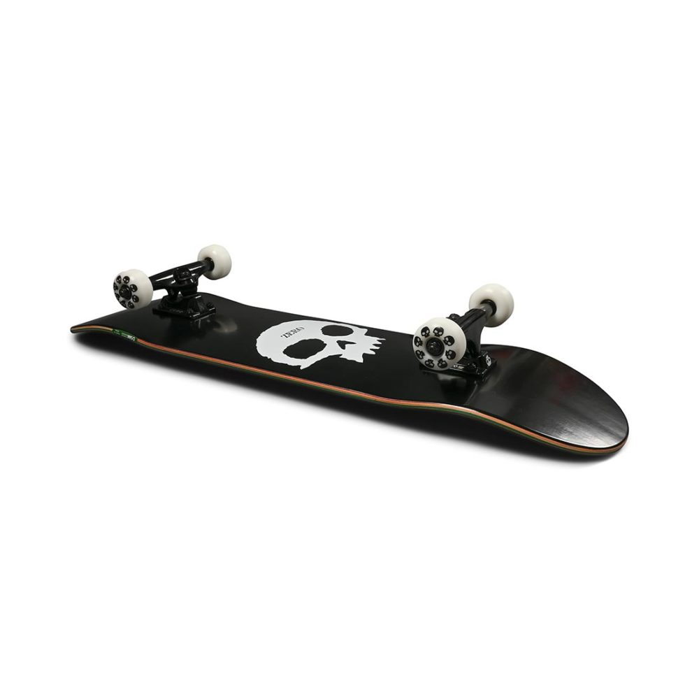 "Zero Single Skull 8"" Complete Skateboard - Black / White"