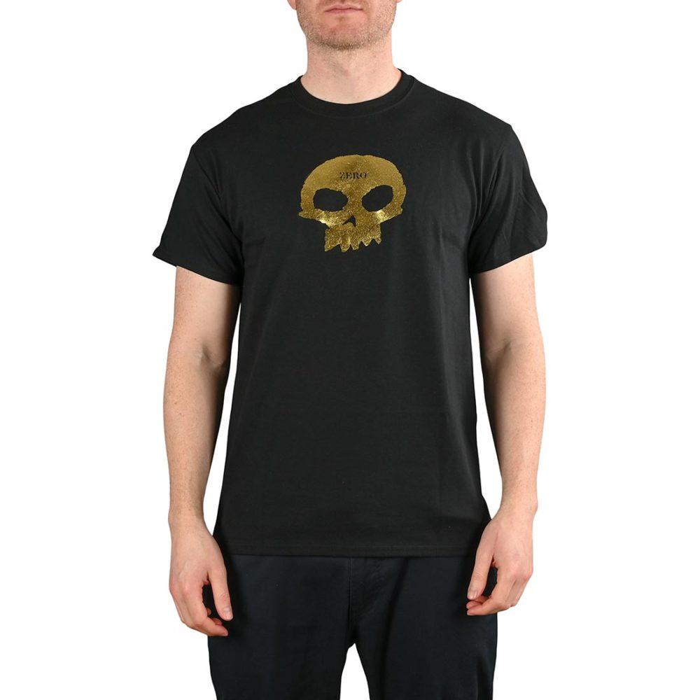 Zero Single Skull S/S T-Shirt - Black / Gold Foil