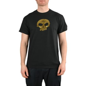 Zero Single Skull S/S T-Shirt - Black / Gold Foil