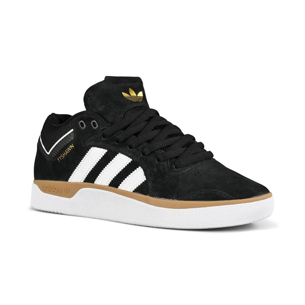 Adidas Tyshawn Skate Shoes - Core Black / Cloud White / Gum
