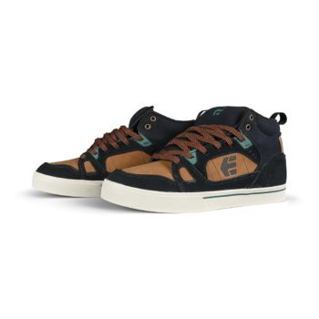 Etnies Agron High-Top Shoes - Navy / Brown / White