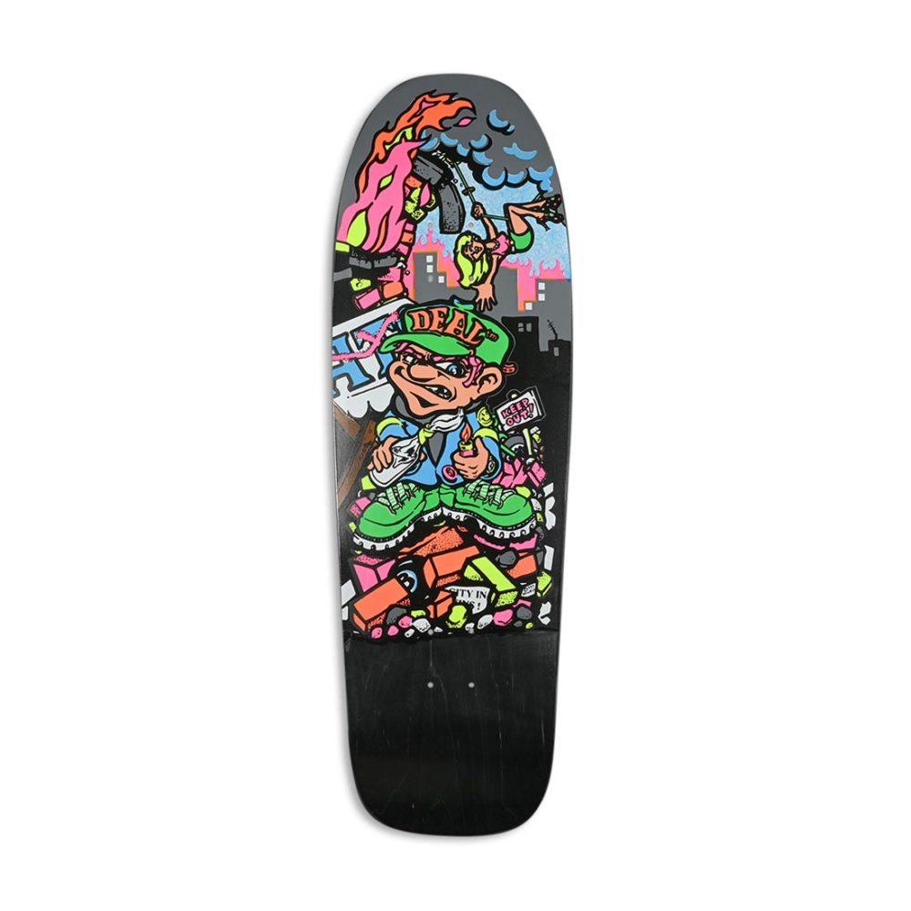 """New Deal Howell Molotov Kid SP 9.875"""" Reissue Skateboard Deck - Black"""
