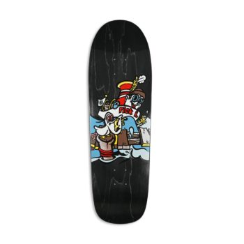 """New Deal Ibaseta Tugboat SP 9.875"""" Reissue Skateboard Deck - Black"""