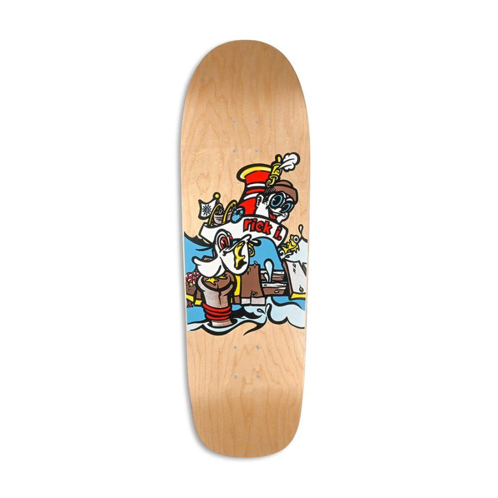 "New Deal Ibaseta Tugboat SP 9.875"" Reissue Skateboard Deck - Natural"