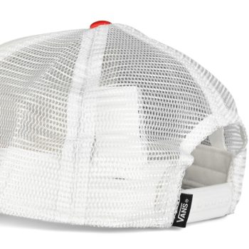Vans Classic Patch Trucker Hat - White / High Risk Red