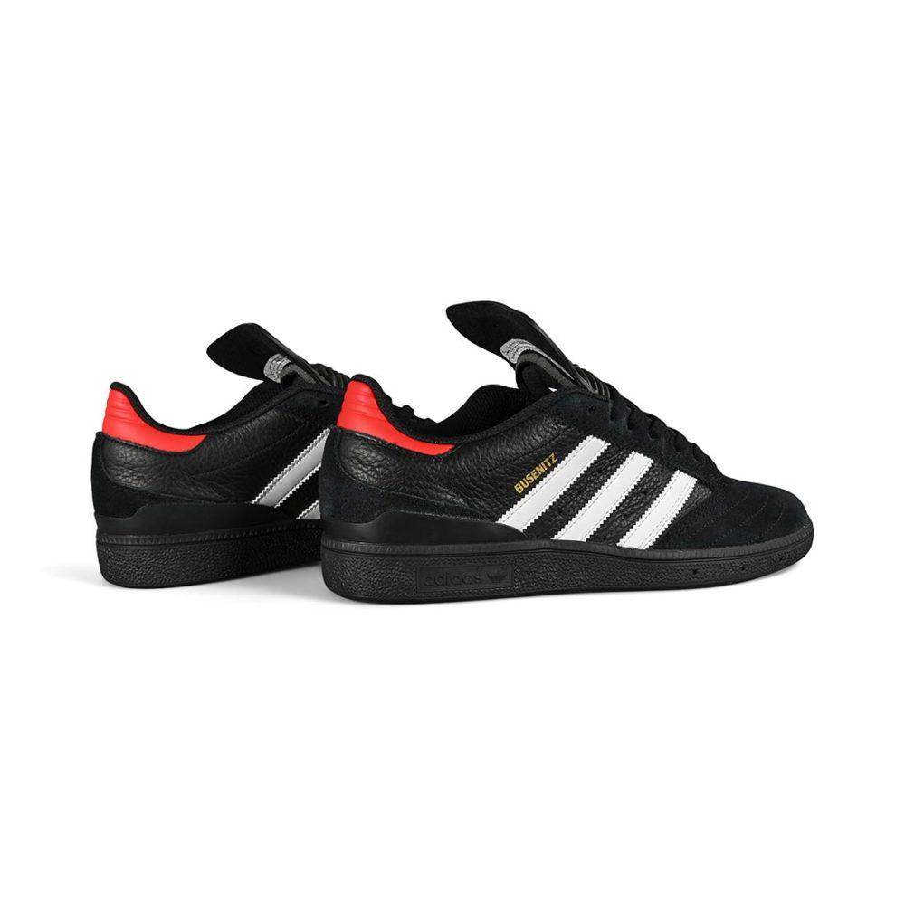 Adidas Busenitz Skate Shoes - Core Black / Core White / Vivid Red