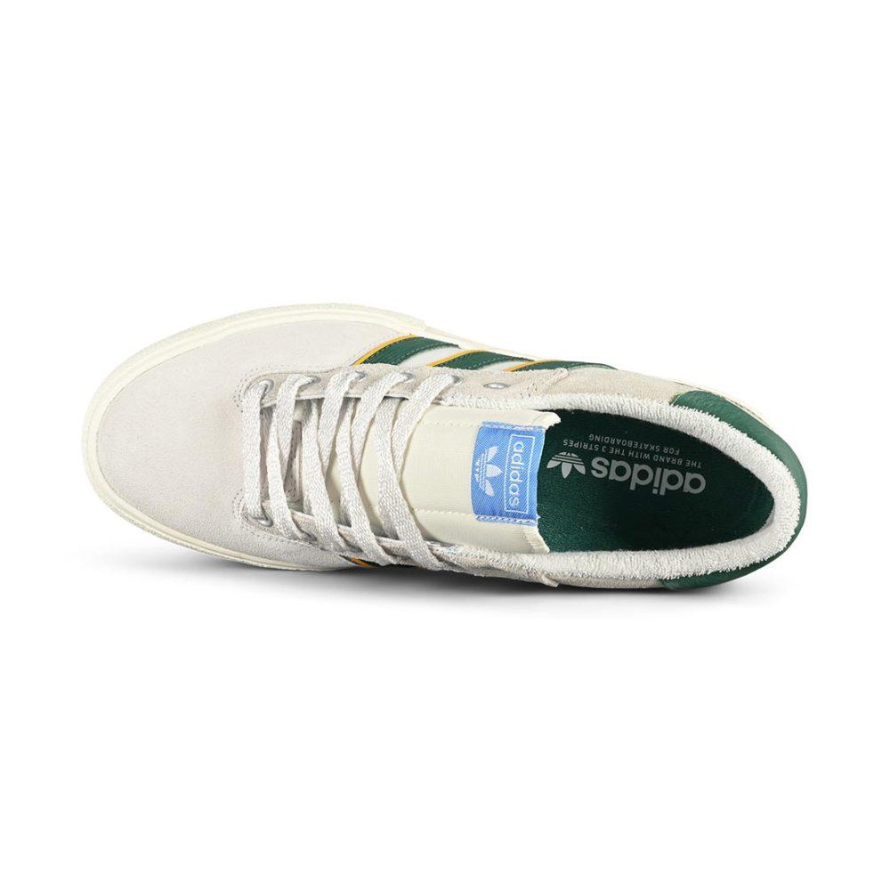 Adidas Matchbreak Super Skate Shoes - Crystal White / Collegiate Green / Crew Yellow