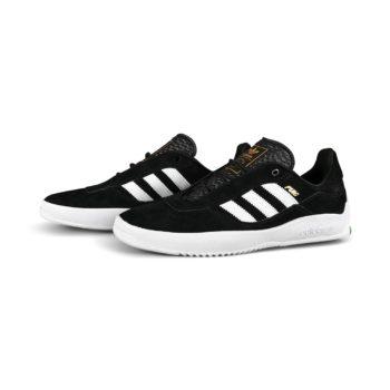 Adidas Puig Skate Shoes - Core Black / Cloud White / Vivid Green