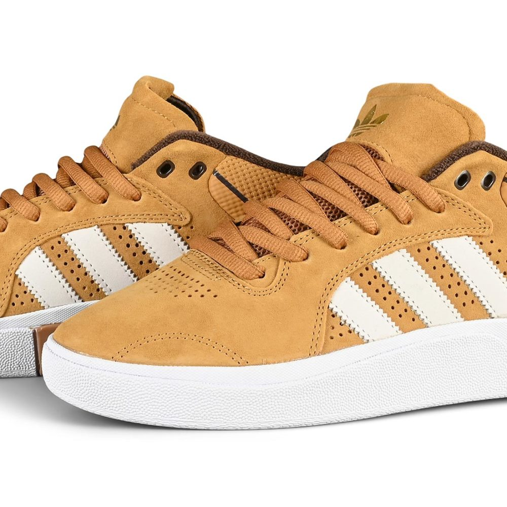 Adidas Tyshawn Skate Shoes - Mesa / Chalk White / Dark Brown