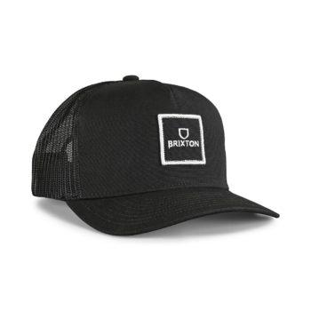 Brixton Alpha Block X C MP Mesh Back Trucker Cap - Black