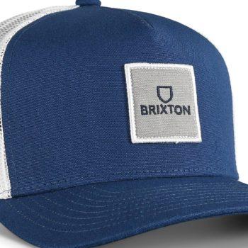 Brixton Alpha Block X C MP Mesh Back Trucker Cap - Navy / White