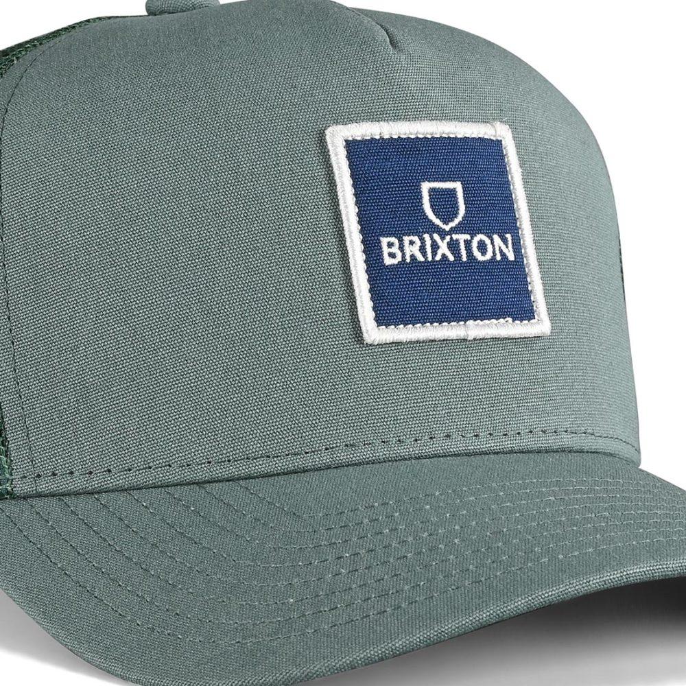 Brixton Alpha Block X C MP Mesh Back Trucker Cap - Silver Pine