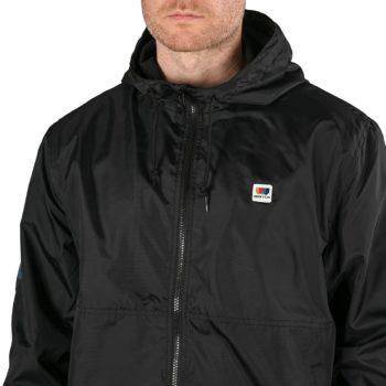 Brixton Claxton Alton LW Zip Hooded Jacket - Black / White