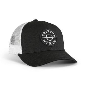 Brixton Crest X MP Mesh Back Trucker Cap - Black