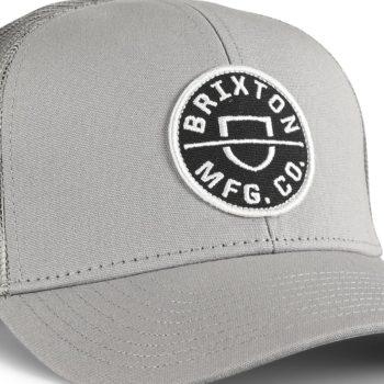 Brixton Crest X MP Mesh Back Trucker Cap - Grey