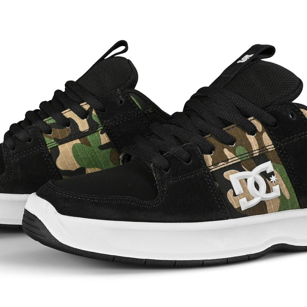 DC Lynx Zero Skate Shoes - Black Camo