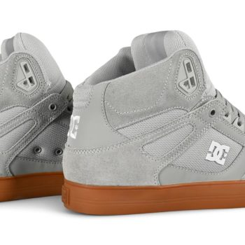 DC Pure High Top WC Skate Shoes - Grey / Gum