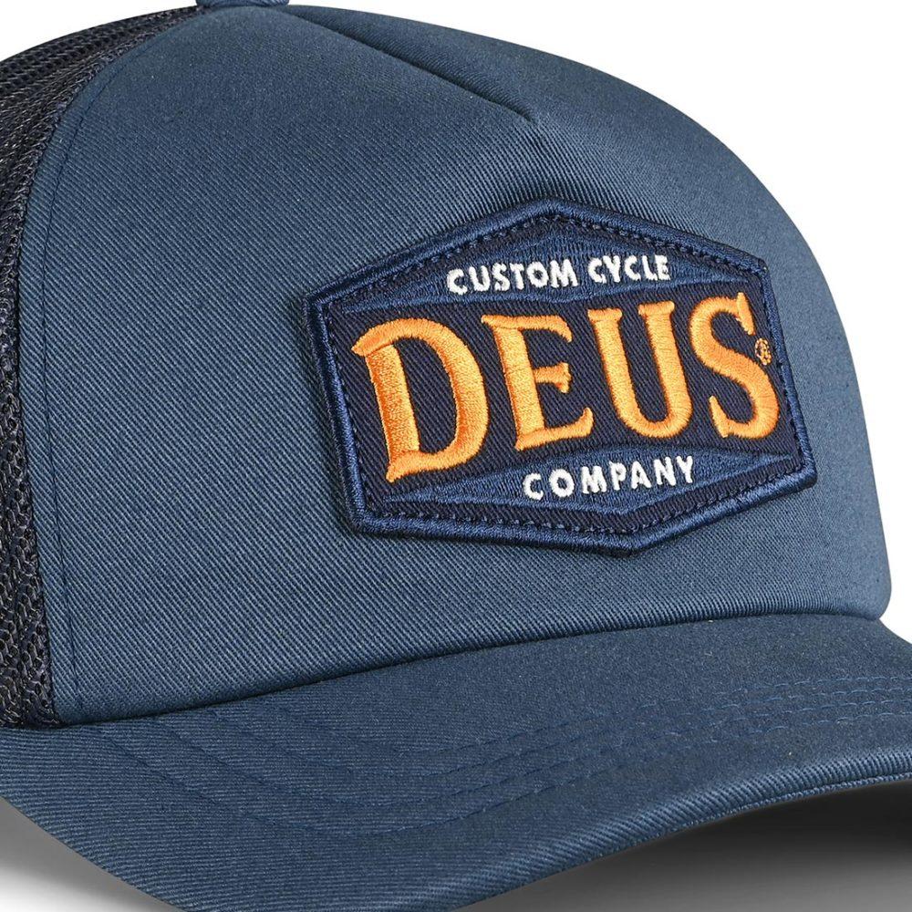 Deus Ex Machina American Twin Trucker Cap - Petrol Blue