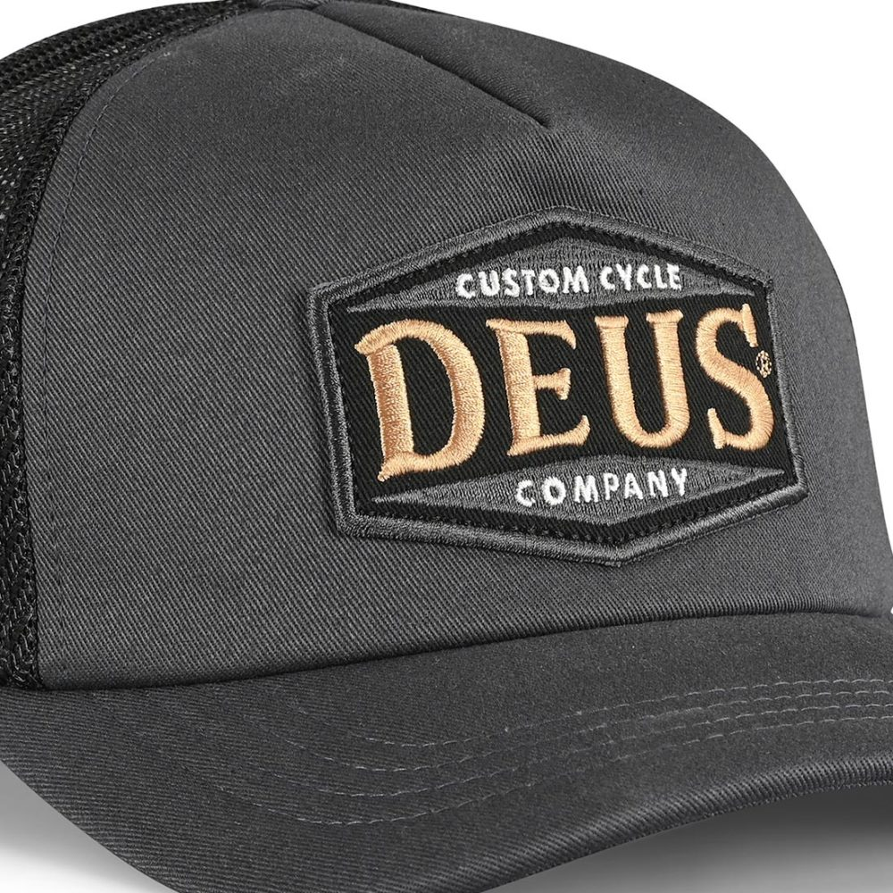 Deus Ex Machina American Twin Trucker Cap - Phantom Black