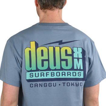 Deus Ex Machina Barracuda S/S T-Shirt - Barrel Blue