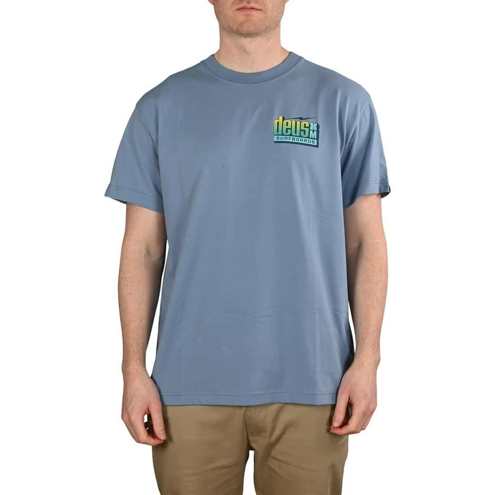 Deus Ex Machina Barracuda S/S T-Shirt - Barrel Blue