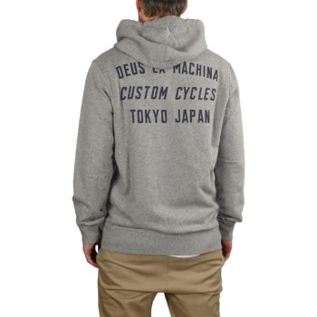 Deus Ex Machina Speed Stix Zip-Up Hoodie - Grey Marle
