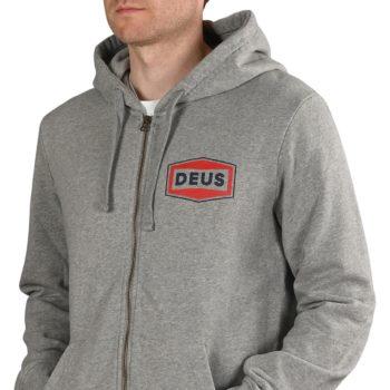 Deus Ex Machina Speed Stix Zip-Up Hoodie - Grey Marle