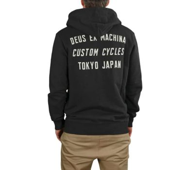 Deus Ex Machina Speed Stix Zip-Up Hoodie - Phantom Black