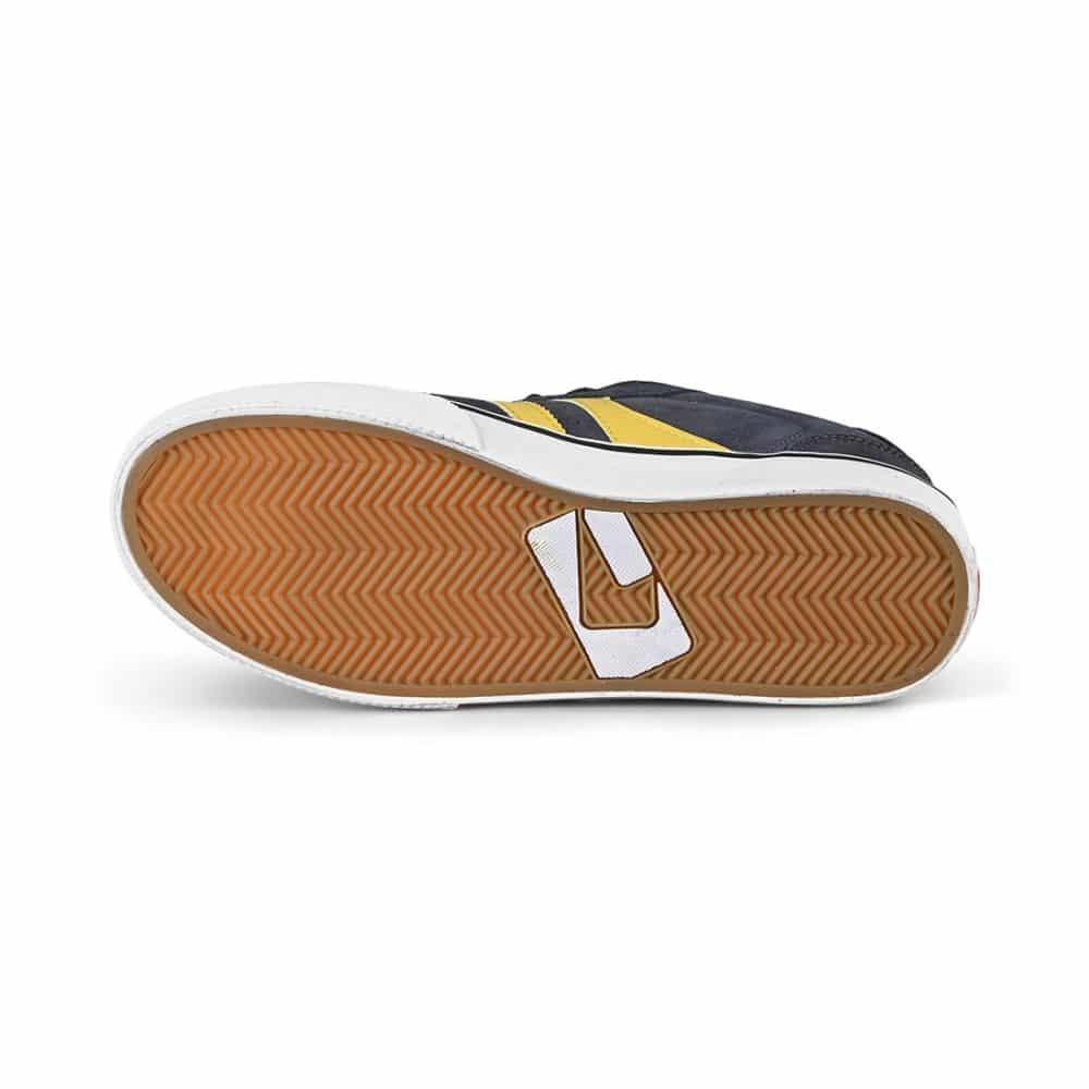 Globe Encore 2 Skate Shoes - Navy / Pale Yellow