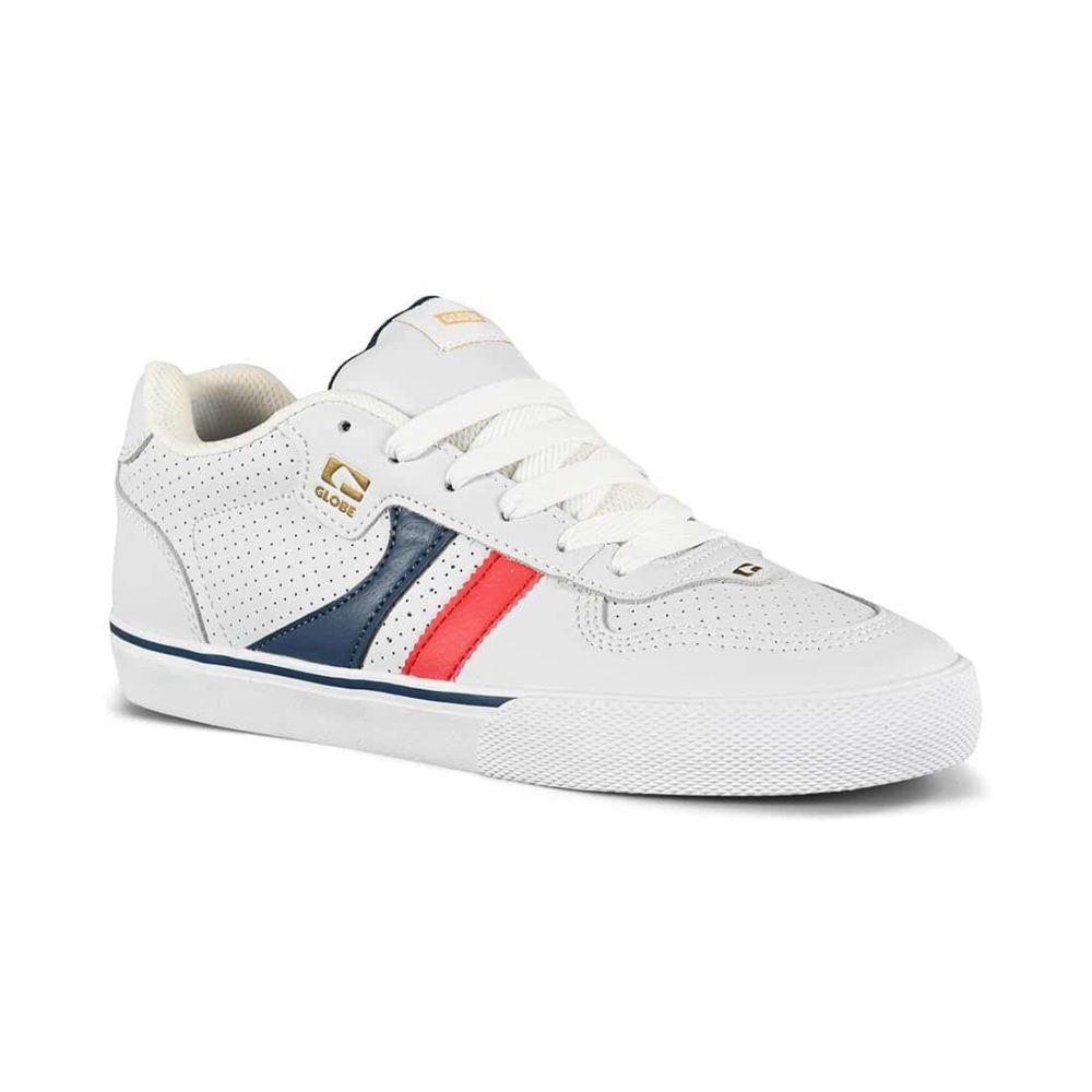 Globe Encore 2 Skate Shoes - White / Blue / Red