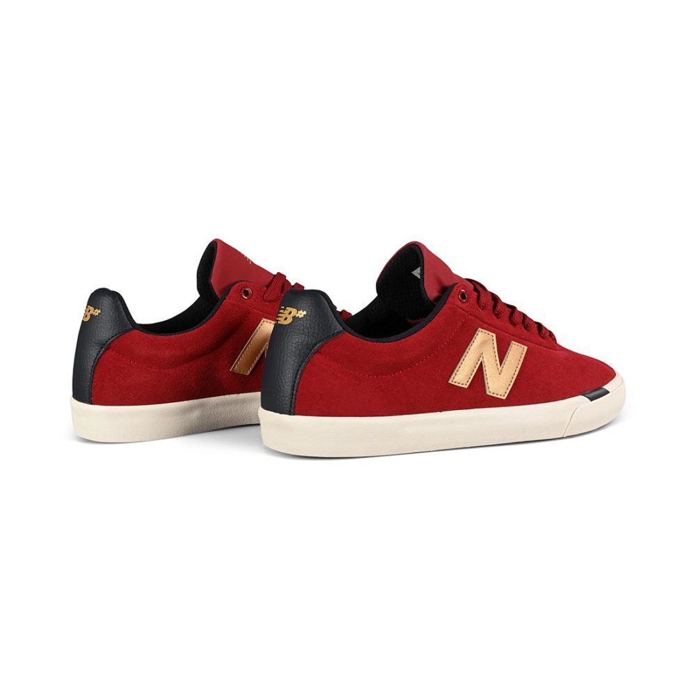 New Balance Numeric 22 Skate Shoes - Red / Gold | Supereight.net