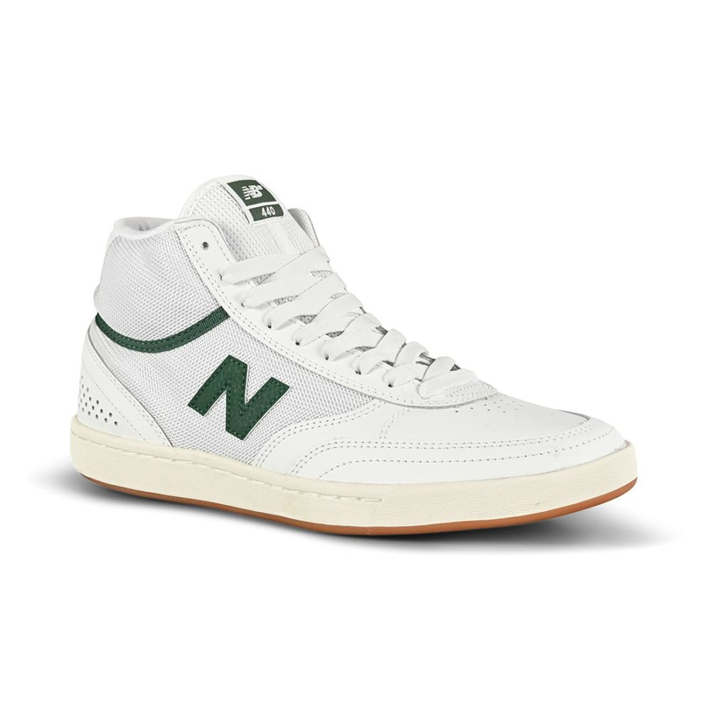 New Balance Numeric 440 High-Top Skate Shoes - White / Green