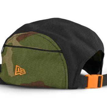 New Era Cordura Camo Side Camper Cap - Black