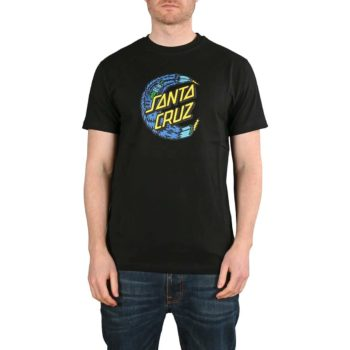 Santa Cruz Bigfoot Moon Dot S/S T-Shirt - Black