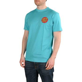 Santa Cruz Classic Dot Chest T-Shirt - Aqua