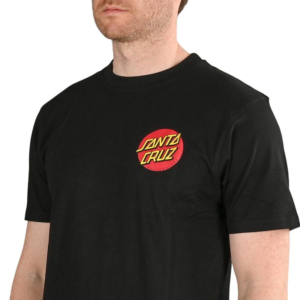 Santa Cruz Classic Dot Chest T-Shirt - Black